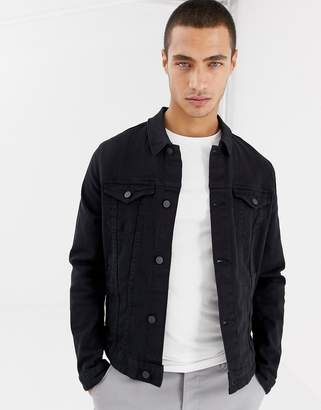 1f4e91badbce Asos Design DESIGN skinny denim jacket in black