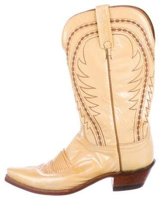 Lucchese Patent Leather Pointed-Toe Boots