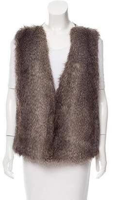 Rachel Zoe Faux Fur V-Neck Vest