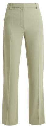 Vanessa Bruno Girel Mid Rise Crepe Trousers - Womens - Light Green