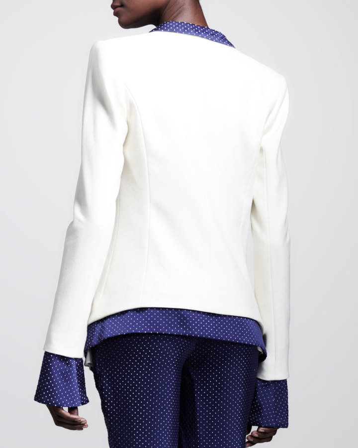 Wes Gordon Dotted Layered Tuxedo Jacket