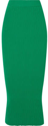 Simon Miller Marsing Ribbed-knit Midi Skirt - Green