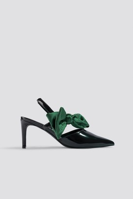Na Kd Shoes Bow Detail Pointy Heels Black