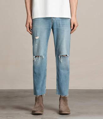 AllSaints Danvers Sid Straight Jeans, Indigo Blue