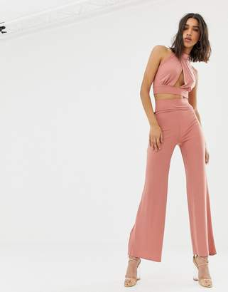 Love belted wide leg pant