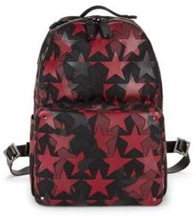 Valentino Dual-Tone Leather Star Print Backpack