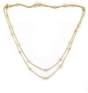 Effy 14 Kt. Gold Diamond Station Necklace