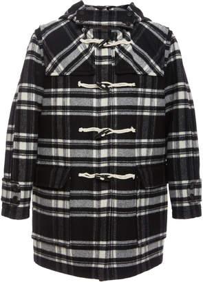 Marni Toggle-Embellished Wool Blend-Felt Hooded Coat