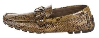 Louis Vuitton Patent Python Driving Loafers