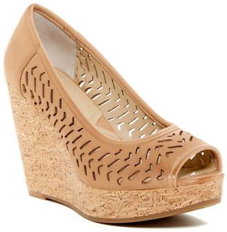 Adrienne Vittadini Carilena Wedge Sandal $99 thestylecure.com