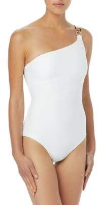 MICHAEL Michael Kors One-Shoulder Ring One-Piece Swimsuit