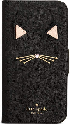 Kate Spade Cat Applique iPhone X Folio Case