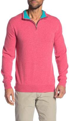 MICHAELS SWIMWEAR Cashmere Quarter Zip Sweater
