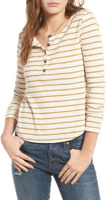 Women's Madewell Sound Ribbed Henley Tee $42 thestylecure.com