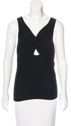 Christian Dior Sleeveless Wool Top