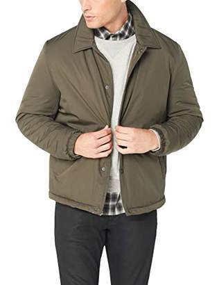 Cole Haan Men's Coach Jacket with Faux Sherpa Lining