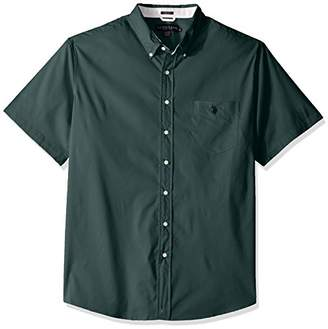U.S. Polo Assn. Men's Big and Tall Short Sleeve Single Pocket Slim Fit Sport Shirt