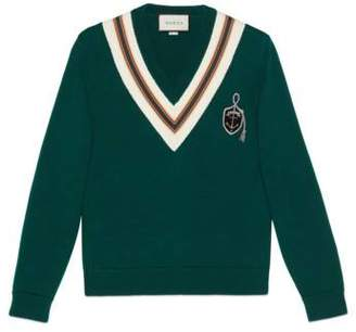 Gucci Wool sweater with anchor crest