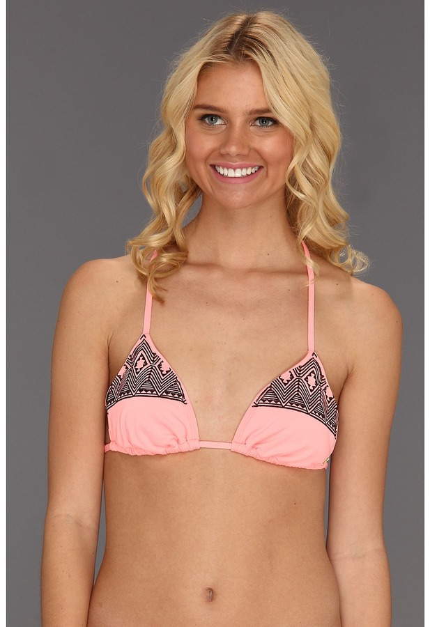 Roxy Tiki Tri Top (Neon Coral) - Apparel