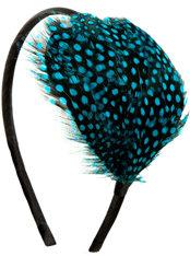 Neon Splatter Feather Headband