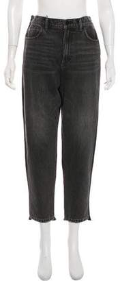 Alexander Wang Denim x High-Rise Straight-Leg Jeans w/ Tags