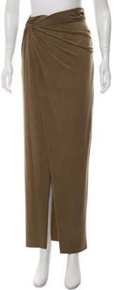 Helmut Lang Draped Midi Skirt