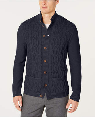 Tasso Elba Men's Cable Knit Cardigan