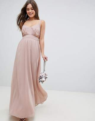 Asos DESIGN Side Cut Out Maxi Dress with Cami Straps