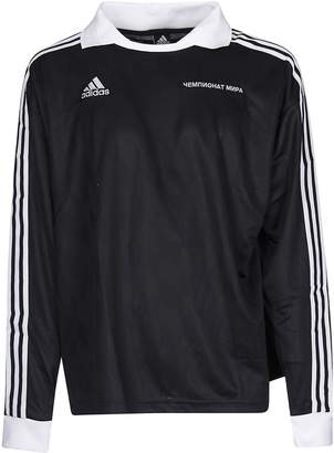 Gosha Rubchinskiy X Adidas Logo Long Sleeve Polo Shirt