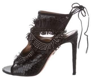 Aquazzura Sexy Thing Python Sandals