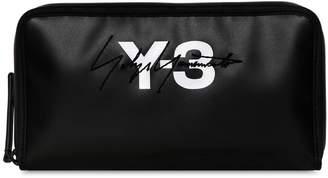 Y-3 Logo Tarpaulin Travel Wallet