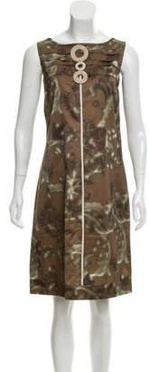Max Mara 'S Sleeveless Printed Dress