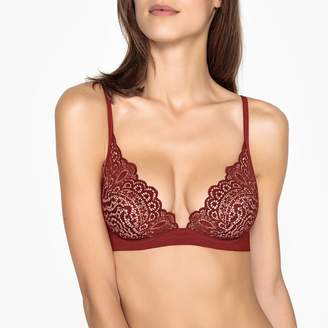 La Redoute Collections Lace and Microfibre Bra