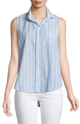 Frank And Eileen Fiona Sleeveless Striped Button-Down Shirt