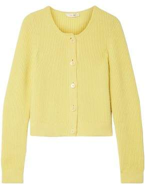 The Row Loulou Ribbed Cashmere Cardigan