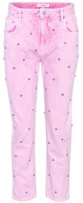 Etoile Isabel Marant Isabel Marant, Étoile Fliffa studded high-waisted jeans