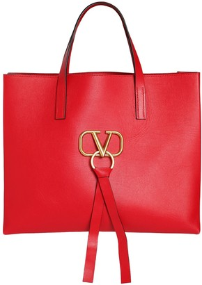 6eb5d7b940c82 Valentino Red Leather Tote Bags - ShopStyle