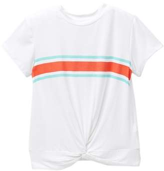 Love, Fire Twist Front Tee (Big Girls)