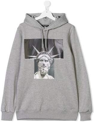 Neil Barrett Kids TEEN graphic print hoodie