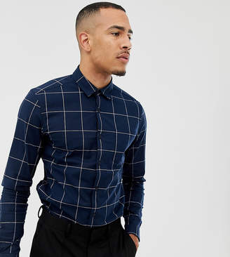 e2e4fa12c7 Asos Design DESIGN stretch slim windowpane check shirt