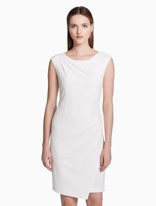 Calvin Klein ruched asymmetrical dress