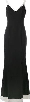 Lauren Ralph Lauren contrast trim gown $280.54 thestylecure.com