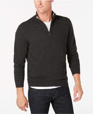 Club Room Men's Quarter-Zip Cashmere Sweater