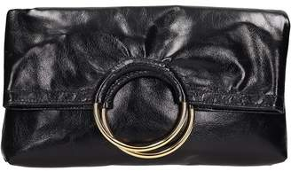 L'Autre Chose Black Leather Clutch