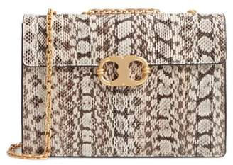 Tory Burch Medium Gemini Link Genuine Snakeskin Shoulder Bag