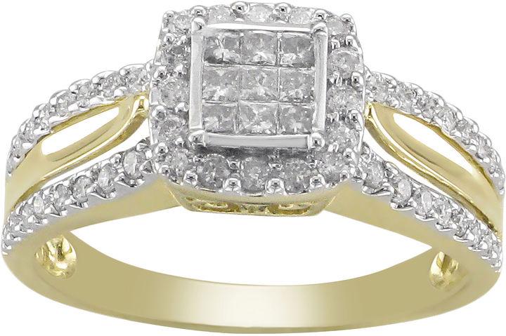 MODERN BRIDE 1/2 CT. T.W. Princess Diamond 10K Gold Engagement Ring