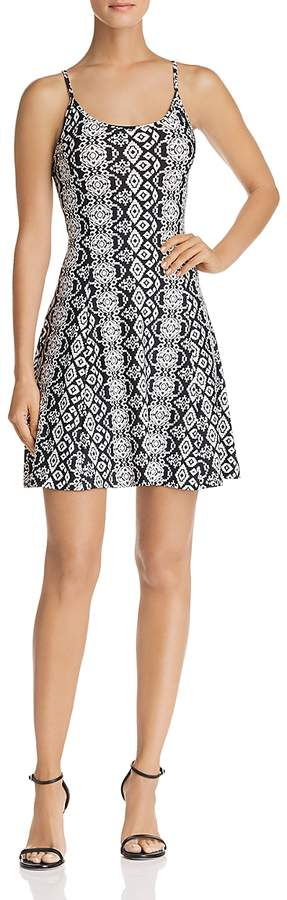 Printed Fit-and-Flare Dress - 100% Exclusive