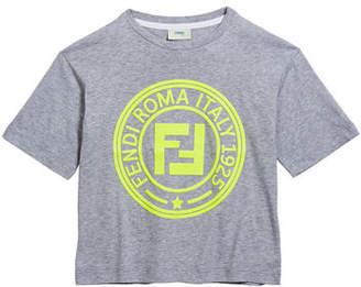 Fendi Boy's Logo T-Shirt, Size 10-14