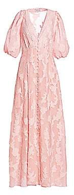 Tanya Taylor Women's Ariela Burnout Floral Maxi Dress - Size 0