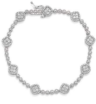 Bloomingdale's Diamond Cluster Station Tennis Bracelet, 2.0 ct. t.w. - 100% Exclusive